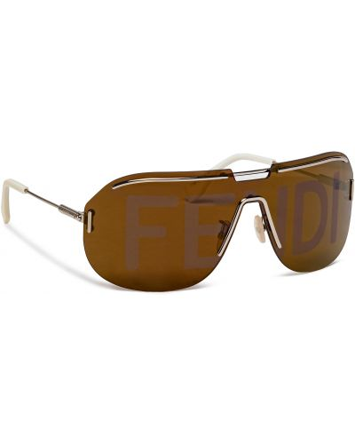 Brązowe złote okulary Fendi
