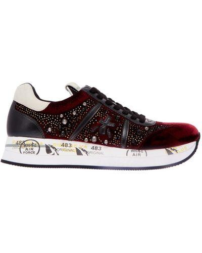 Кроссовки с логотипом на шнуровке Premiata