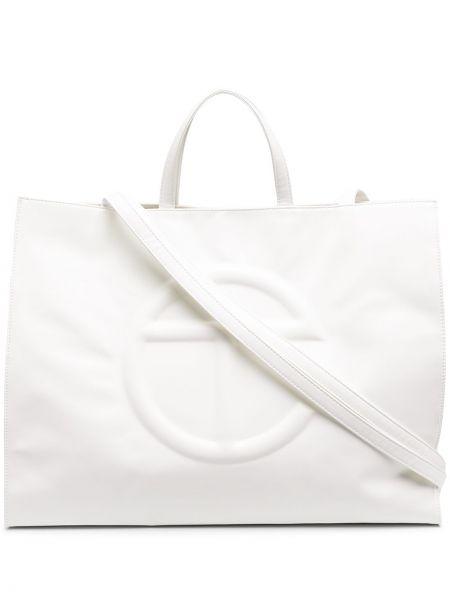 Biała torebka skórzana oversize Telfar