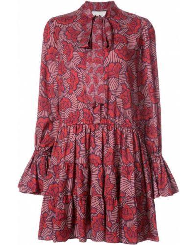 Вязаное платье с цветочным принтом платье-солнце Alexis