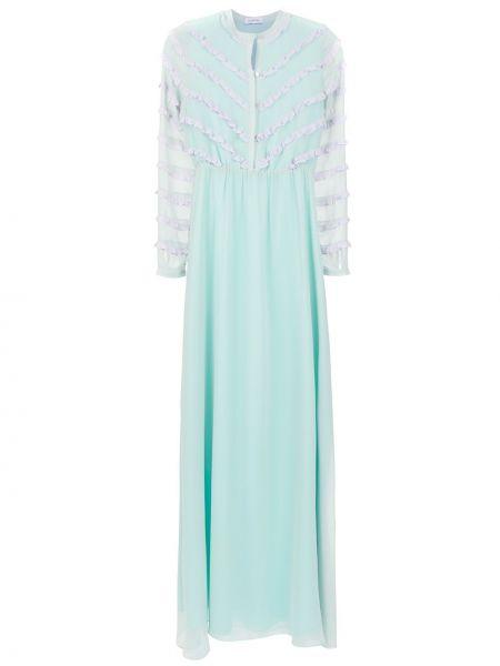 Вечернее платье длинное - синее Olympiah