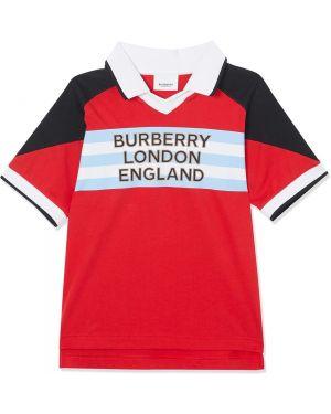 Асимметричная рубашка Burberry Kids