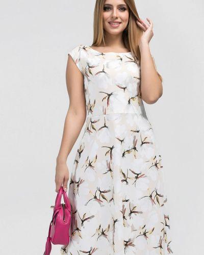 Бежевое платье миди Eliseeva Olesya