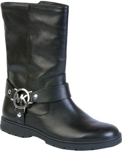 Черные сапоги на каблуке Michael Kors