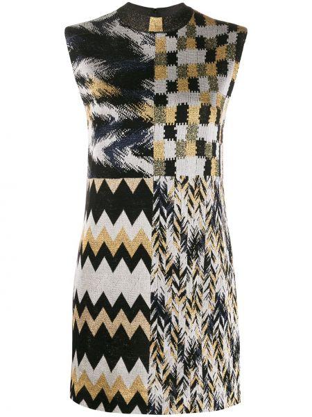 Деловое платье пэчворк с заплатками Missoni