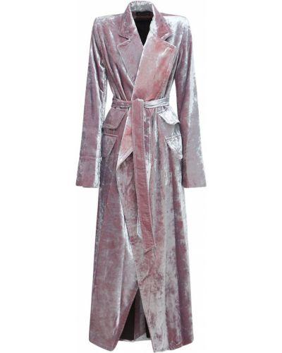 Бархатное пальто - розовое Ann Demeulemeester