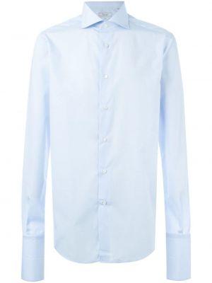 Niebieska koszula bawełniana Fashion Clinic Timeless