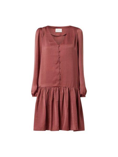 Różowa sukienka z dekoltem w serek Neo Noir