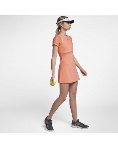 Платье макси сетчатое теннисное льняное Nike
