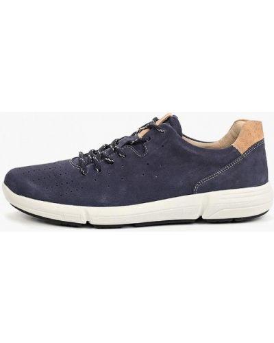 Кроссовки из нубука синий Bata