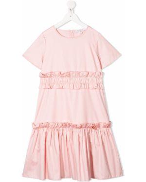 Розовое платье с рукавами Owa Yurika