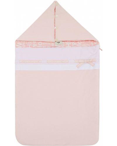Светло-розовая хлопковая ватная сумка Fendi Kids