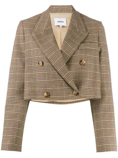 Шерстяной пиджак двубортный Nanushka