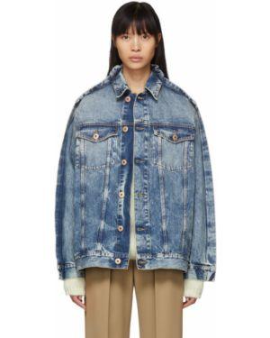 Джинсовая куртка длинная на пуговицах Maison Margiela