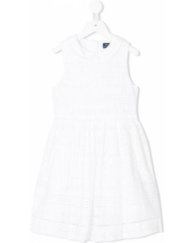 Платье с рукавами хлопковое плиссированное Ralph Lauren Kids
