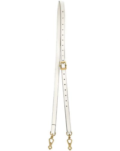 Ремень кожаный белый Gucci