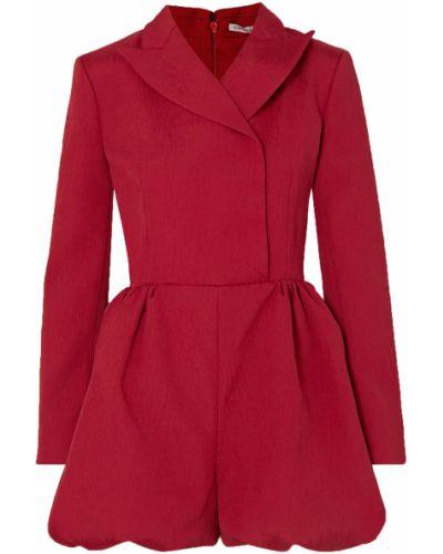 Хлопковый красный комбинезон с карманами Emilia Wickstead
