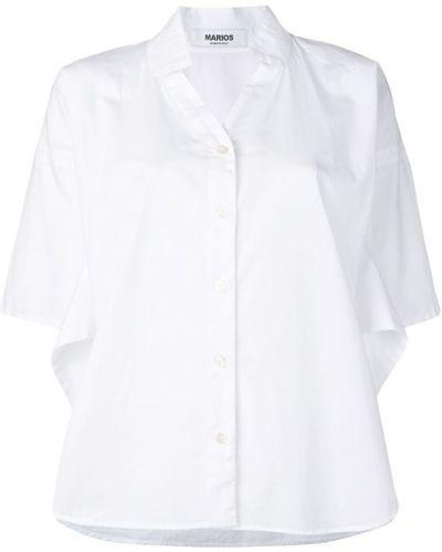Рубашка белая свободного кроя Marios