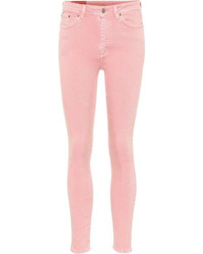 Bawełna różowy bawełna światło obcisłe dżinsy Acne Studios