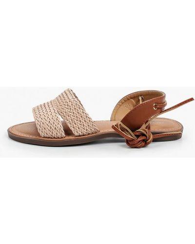 Бежевые кожаные сандалии Marquiiz