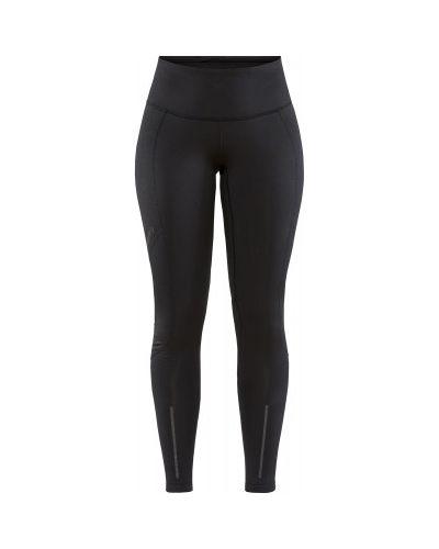 Теплые облегающие черные спортивные брюки Craft