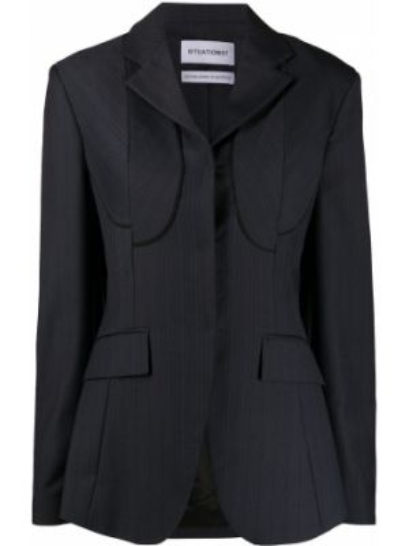 Черная свободная куртка свободного кроя с карманами Situationist