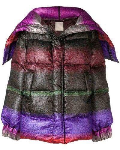 Дутое пальто с капюшоном Marco De Vincenzo