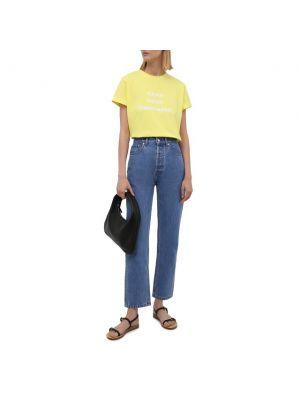Желтая хлопковая футболка Seven Lab