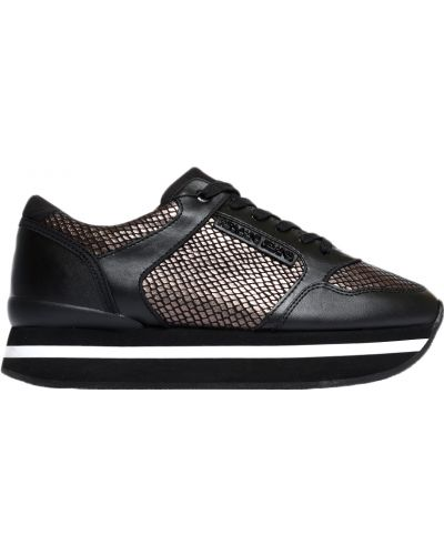 Черные кроссовки на платформе Armani Jeans