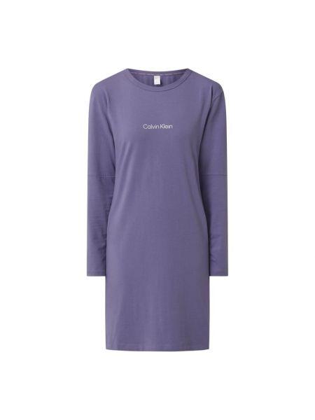 Koszula nocna bawełniana - fioletowa Calvin Klein Underwear