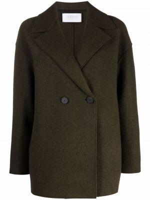 Зеленая шерстяная куртка Harris Wharf London