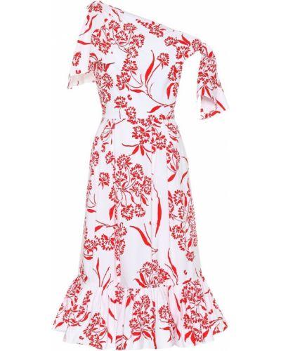 Bawełna biały bawełna sukienka rozciągać Carolina Herrera