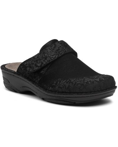 Czarne sandały zamszowe Berkemann