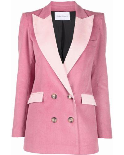 Розовый хлопковый пиджак Hebe Studio