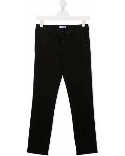 Прямые облегающие черные прямые джинсы с карманами Dondup Kids