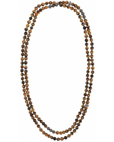 Ожерелье коричневый с бисером Tateossian