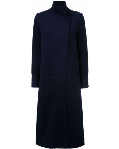 Синее шерстяное пальто с капюшоном Manning Cartell