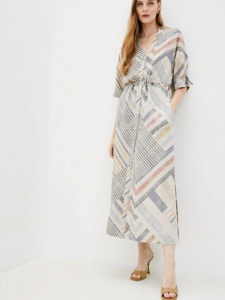 Повседневное бежевое платье Argent