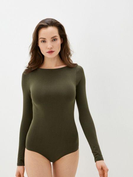 Боди зеленый хаки Falke