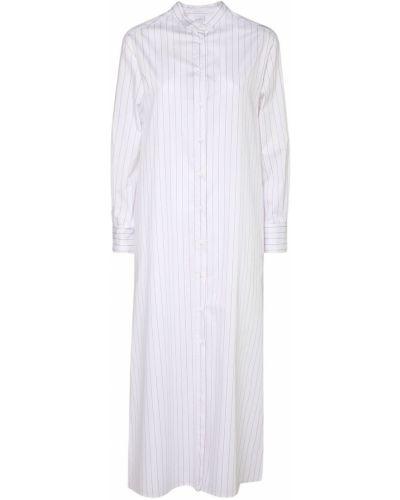 Хлопковое белое платье на пуговицах Max Mara