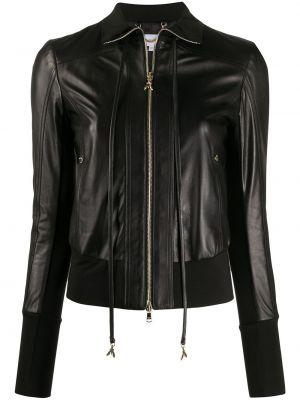 Кожаная куртка на молнии - черная Patrizia Pepe