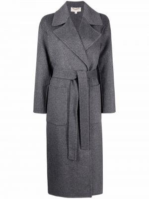 Серое длинное пальто Michael Michael Kors