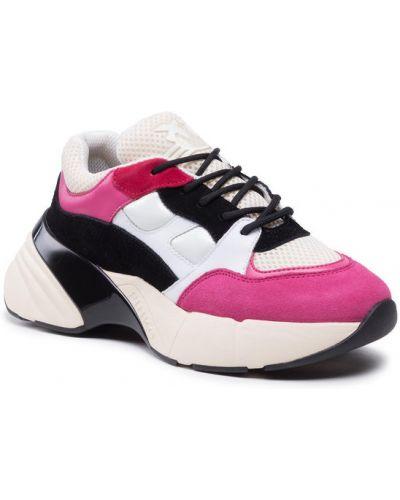 Różowe sneakersy Pinko