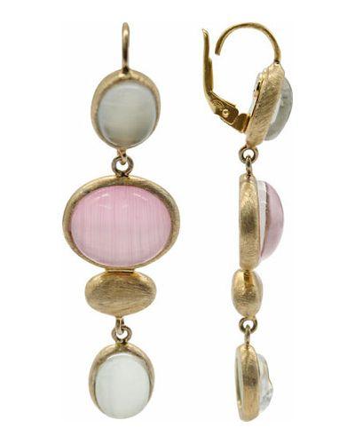 Серебряные серьги золотые позолоченные Stile Italiano