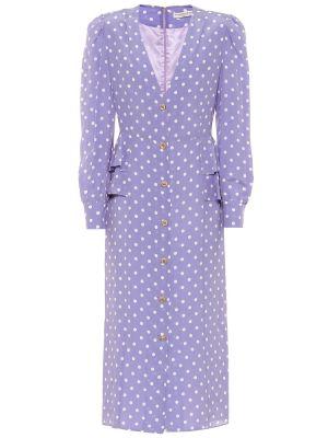 Фиолетовое шелковое платье миди винтажное Alessandra Rich