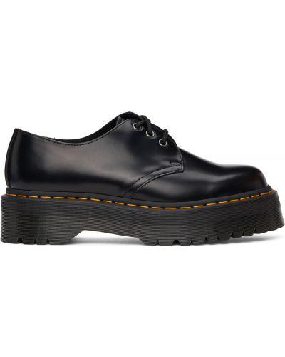 Черные дерби на шнуровке Dr Martens