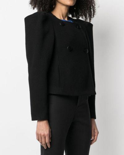 Шерстяной черный пиджак двубортный Isabel Marant