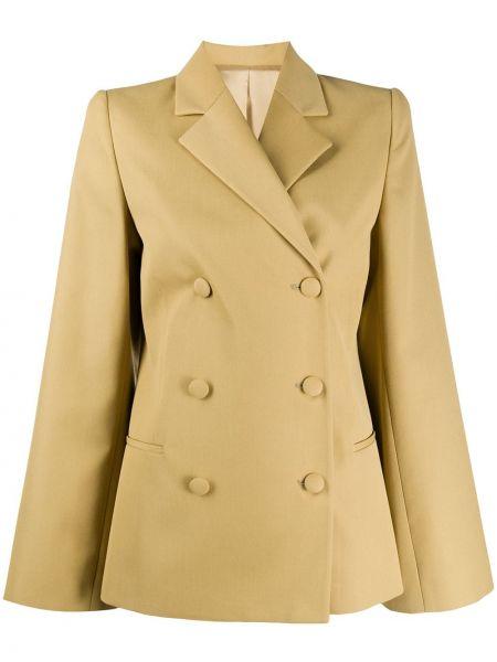 Желтый короткая куртка двубортный на пуговицах Toteme