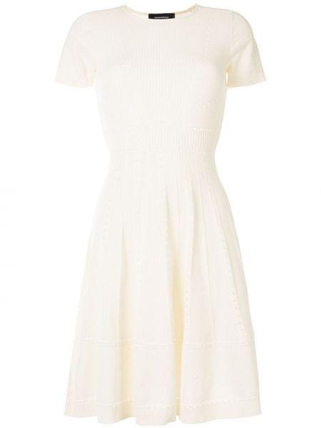 Платье мини с перфорацией с рукавами Dsquared2