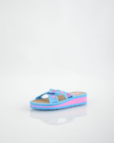 Шлепанцы на каблуке розовый Bitis